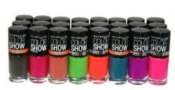 24 x Maybelline Color Show Nail Polish | RRP £96 | Neons & Vintage Leather range